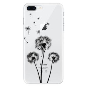 Plastové pouzdro iSaprio Tři Černé Pampelišky na mobil Apple iPhone 8 Plus