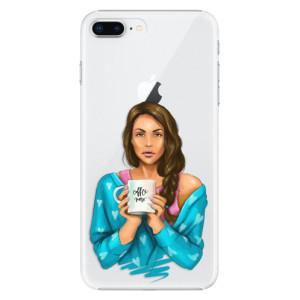 Plastové pouzdro iSaprio Coffee Now Brunetka na mobil Apple iPhone 8 Plus