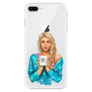 Plastové pouzdro iSaprio Coffee Now Blondýna na mobil Apple iPhone 8 Plus