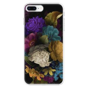 Plastové pouzdro iSaprio Temné Květy na mobil Apple iPhone 8 Plus