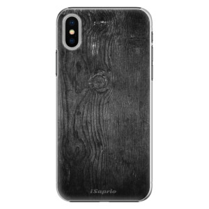 Plastové pouzdro iSaprio black Wood 13 na mobil Apple iPhone X