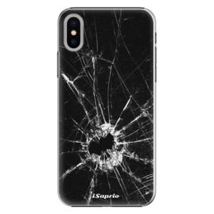 Plastové pouzdro iSaprio Broken Glass 10 na mobil Apple iPhone X
