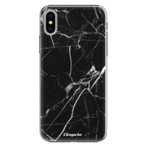 Plastové pouzdro iSaprio black Marble 18 na mobil Apple iPhone X
