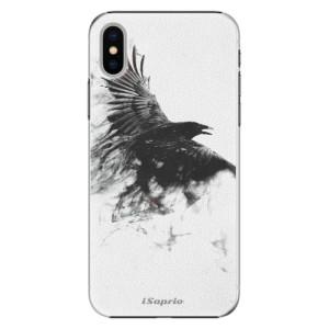Plastové pouzdro iSaprio Havran 01 na mobil Apple iPhone X