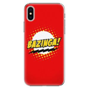 Plastové pouzdro iSaprio Bazinga 01 na mobil Apple iPhone X