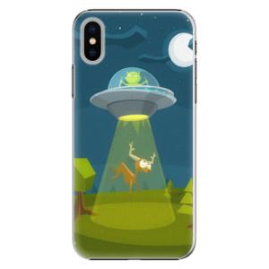 Plastové pouzdro iSaprio Alien 01 na mobil Apple iPhone X