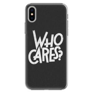 Plastové pouzdro iSaprio Who Cares na mobil Apple iPhone X