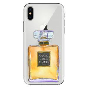 Plastové pouzdro iSaprio Chanel Gold na mobil Apple iPhone X
