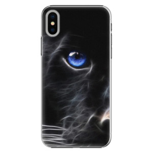 Plastové pouzdro iSaprio black Puma na mobil Apple iPhone X