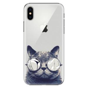 Plastové pouzdro iSaprio Šílená Číča 01 na mobil Apple iPhone X