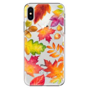 Plastové pouzdro iSaprio Autumn Leaves 01 na mobil Apple iPhone X