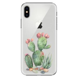 Plastové pouzdro iSaprio Kaktusy 01 na mobil Apple iPhone X