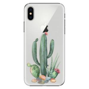 Plastové pouzdro iSaprio Kaktusy 02 na mobil Apple iPhone X