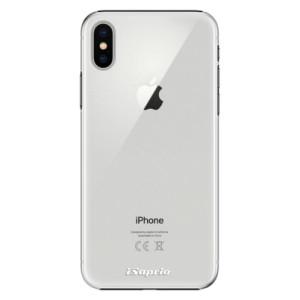 Plastové pouzdro iSaprio 4Pure mléčné bez potisku na mobil Apple iPhone X