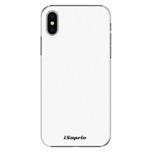 Plastové pouzdro iSaprio 4Pure bílé na mobil Apple iPhone X