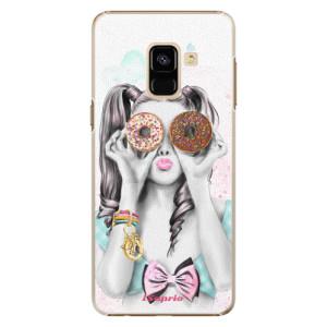 Plastové pouzdro iSaprio Donutky Očiska 10 na mobil Samsung Galaxy A8 2018