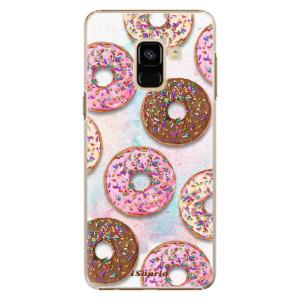 Plastové pouzdro iSaprio Donutky Všude 11 na mobil Samsung Galaxy A8 2018