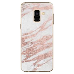 Plastové pouzdro iSaprio Růžovozlatý Mramor 10 na mobil Samsung Galaxy A8 2018