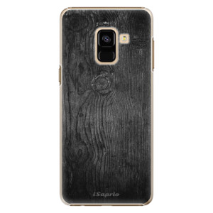 Plastové pouzdro iSaprio black Wood 13 na mobil Samsung Galaxy A8 2018
