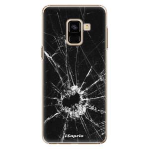 Plastové pouzdro iSaprio Broken Glass 10 na mobil Samsung Galaxy A8 2018