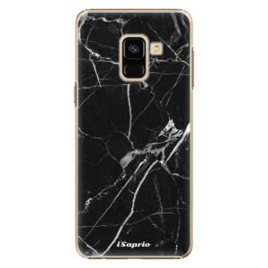 Plastové pouzdro iSaprio black Marble 18 na mobil Samsung Galaxy A8 2018