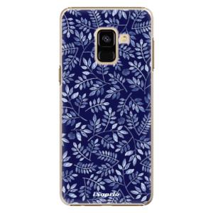 Plastové pouzdro iSaprio Blue Leaves 05 na mobil Samsung Galaxy A8 2018
