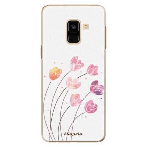 Plastové pouzdro iSaprio Květinky 14 na mobil Samsung Galaxy A8 2018 - výprodej