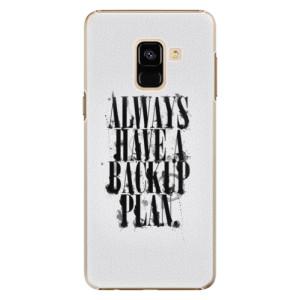 Plastové pouzdro iSaprio Backup Plan na mobil Samsung Galaxy A8 2018