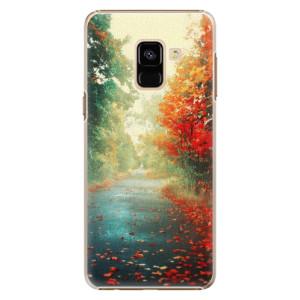 Plastové pouzdro iSaprio Autumn 03 na mobil Samsung Galaxy A8 2018