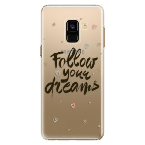 Plastové pouzdro iSaprio Follow Your Dreams černý na mobil Samsung Galaxy A8 2018