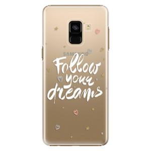 Plastové pouzdro iSaprio Follow Your Dreams bílý na mobil Samsung Galaxy A8 2018