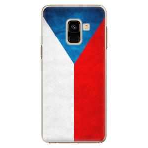Plastové pouzdro iSaprio Česká Vlajka na mobil Samsung Galaxy A8 2018