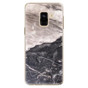 Plastové pouzdro iSaprio BW Marble na mobil Samsung Galaxy A8 2018