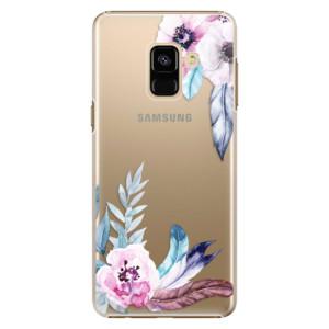 Plastové pouzdro iSaprio Flower Pattern 04 na mobil Samsung Galaxy A8 2018