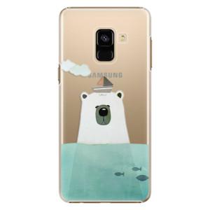 Plastové pouzdro iSaprio Bear With Boat na mobil Samsung Galaxy A8 2018