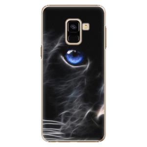 Plastové pouzdro iSaprio black Puma na mobil Samsung Galaxy A8 2018