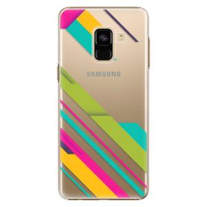 Plastové pouzdro iSaprio Barevné Pruhy 03 na mobil Samsung Galaxy A8 2018