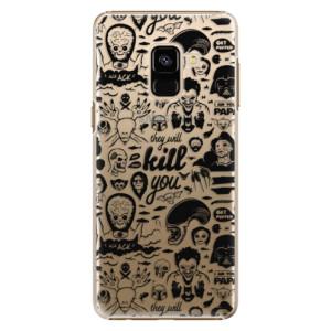 Plastové pouzdro iSaprio Komiks 01 black na mobil Samsung Galaxy A8 2018