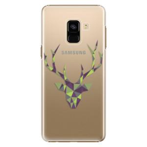 Plastové pouzdro iSaprio Zelený Jelínek na mobil Samsung Galaxy A8 2018