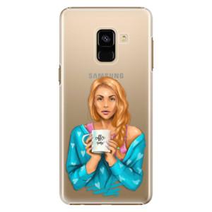 Plastové pouzdro iSaprio Coffee Now Zrzka na mobil Samsung Galaxy A8 2018