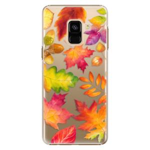 Plastové pouzdro iSaprio Autumn Leaves 01 na mobil Samsung Galaxy A8 2018