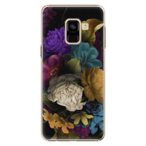 Plastové pouzdro iSaprio Temné Květy na mobil Samsung Galaxy A8 2018