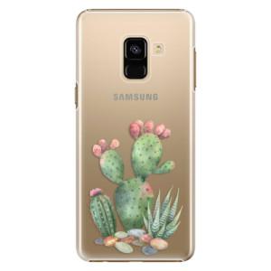 Plastové pouzdro iSaprio Kaktusy 01 na mobil Samsung Galaxy A8 2018