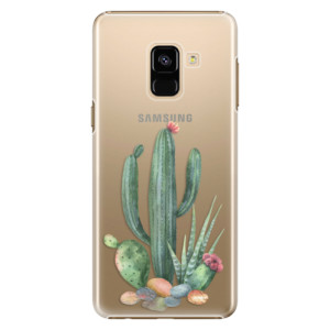 Plastové pouzdro iSaprio Kaktusy 02 na mobil Samsung Galaxy A8 2018