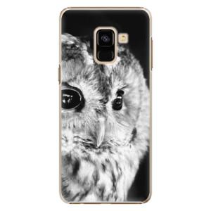 Plastové pouzdro iSaprio BW Sova na mobil Samsung Galaxy A8 2018