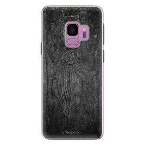 Plastové pouzdro iSaprio black Wood 13 na mobil Samsung Galaxy S9