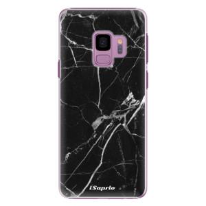 Plastové pouzdro iSaprio black Marble 18 na mobil Samsung Galaxy S9