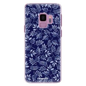 Plastové pouzdro iSaprio Blue Leaves 05 na mobil Samsung Galaxy S9