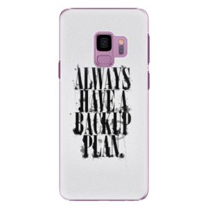 Plastové pouzdro iSaprio Backup Plan na mobil Samsung Galaxy S9
