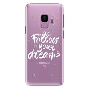 Plastové pouzdro iSaprio Follow Your Dreams bílý na mobil Samsung Galaxy S9